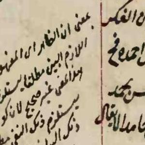 Glosses on Maṭāliʿ al-anẓār Leiden Or 155 f3a web
