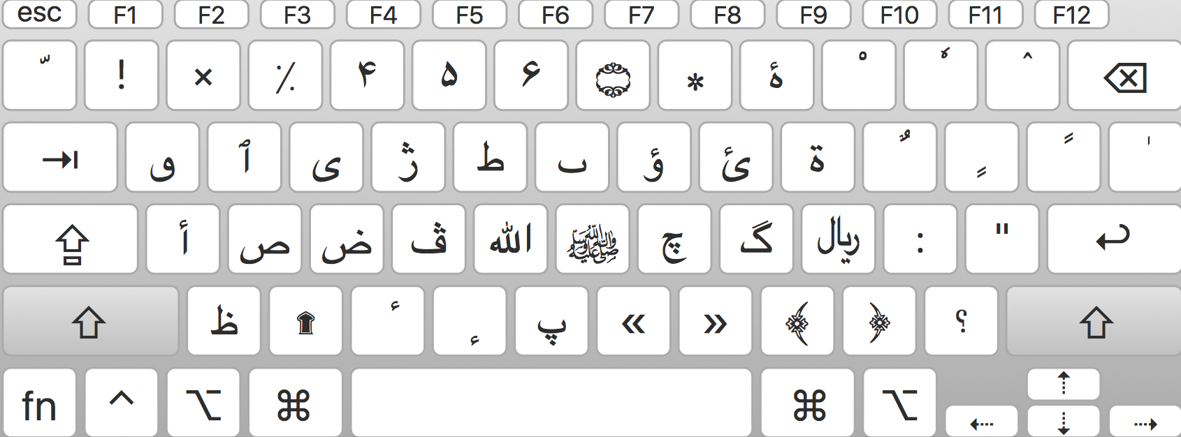 improved keyboard layout for mac