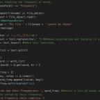 Making a Basic Textual Analysis program in Python